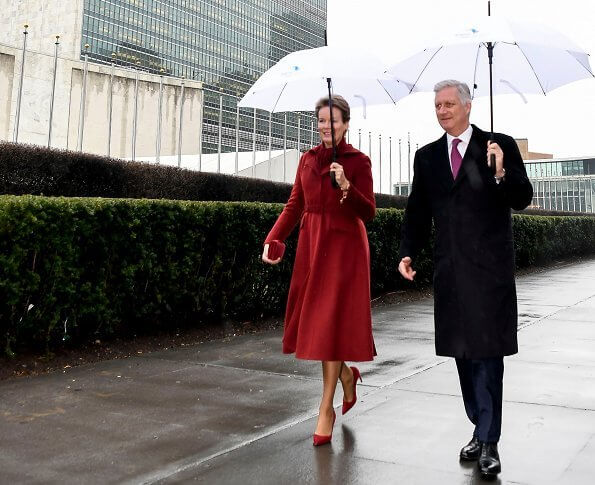 King Philippe and Queen Mathilde arrived in New York for a two-day visit. Minister of Foreign Affairs and Defence, Philippe Goffin