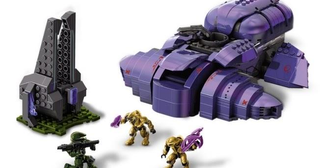 Mega Bloks Halo Metal Series Covenant Wraith Set 96964 ...  |Covenant Wraith Purple