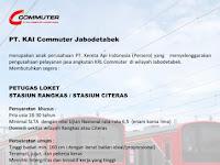 Lowongan Kerja KAI Commuter Jabodetabek Desember 2016 - Petugas Loket Rangkas Bitung