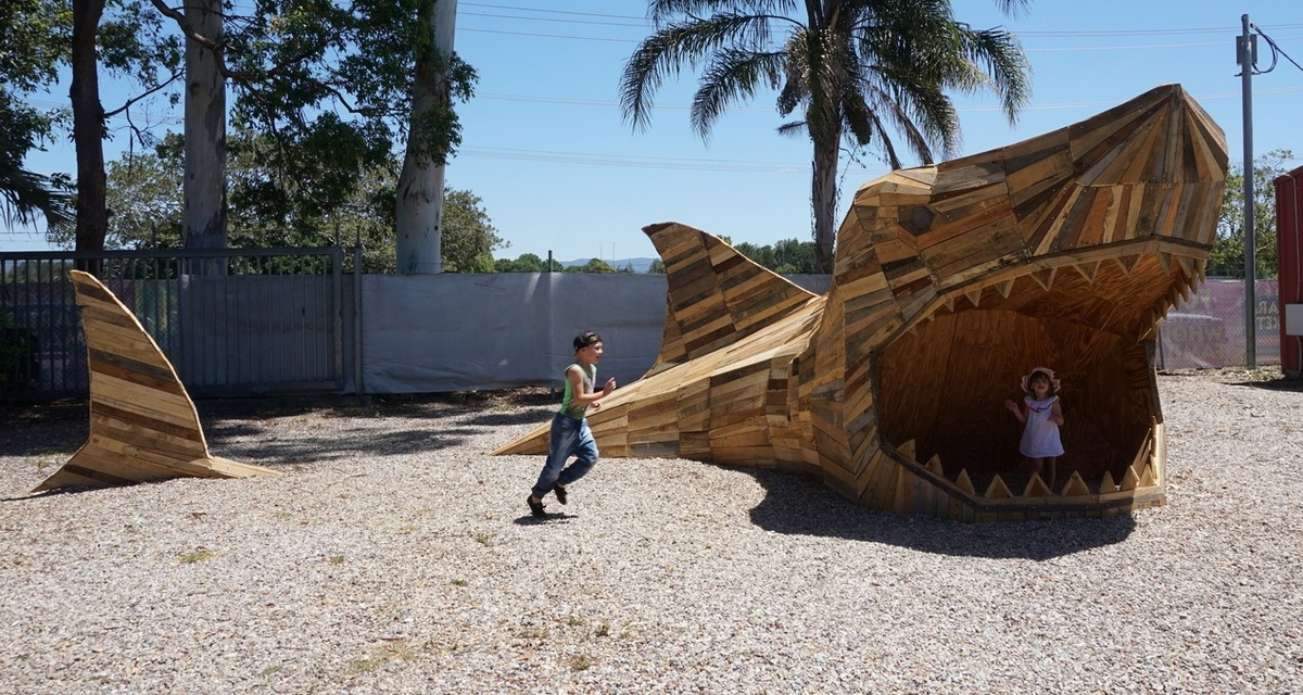 08-Steve-The-Shark-Thomas-Dambo-Large-Interactive-Recycled-Wooden-Sculptures-www-designstack-co
