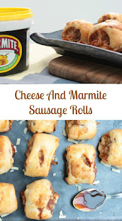 Cheese and marmite sausage rolls, you will love them (or hate them if you don't like marmite!)