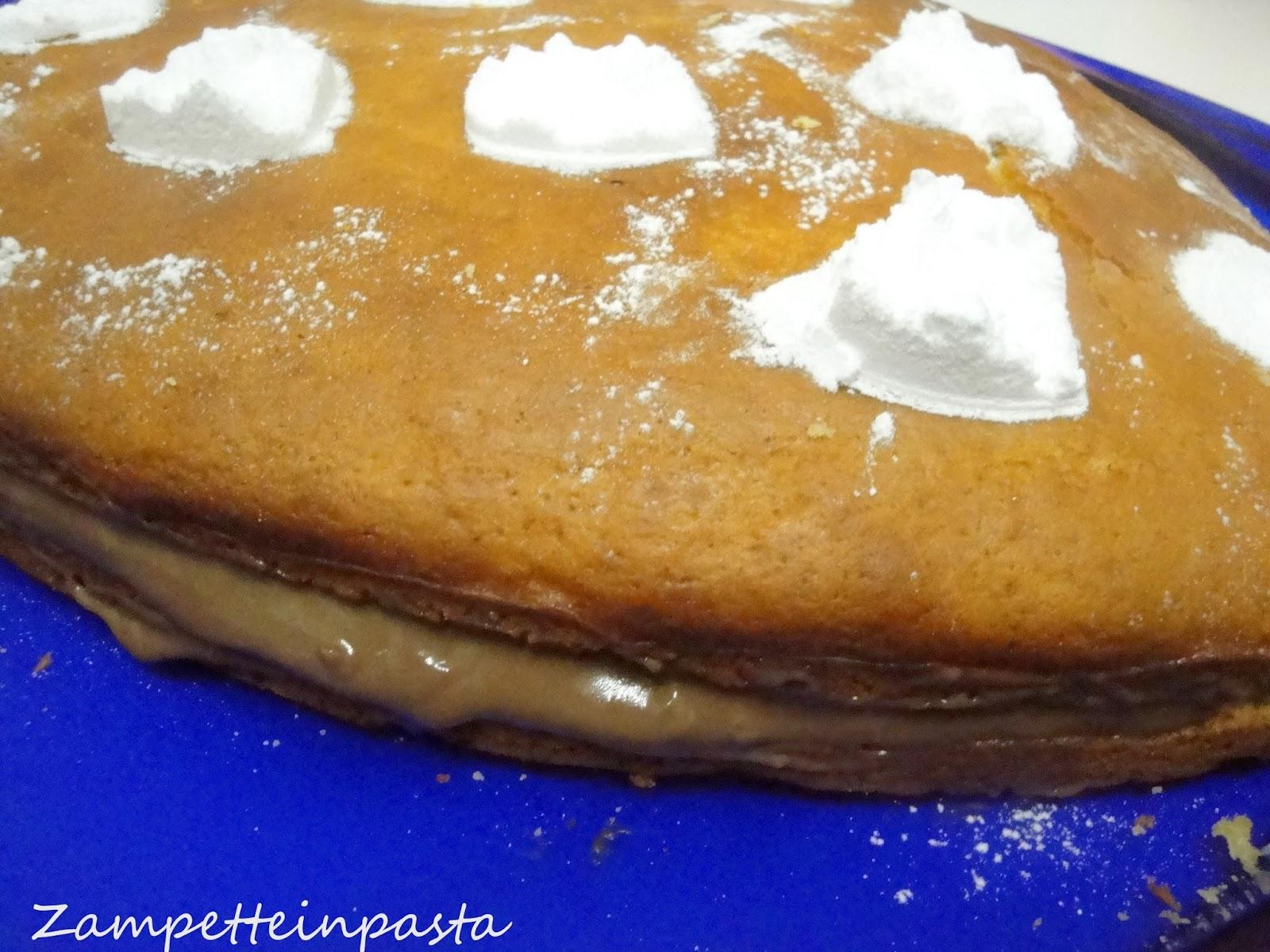 Torta allo yogurt con crema pasticcera al cioccolato - Torta a cuore