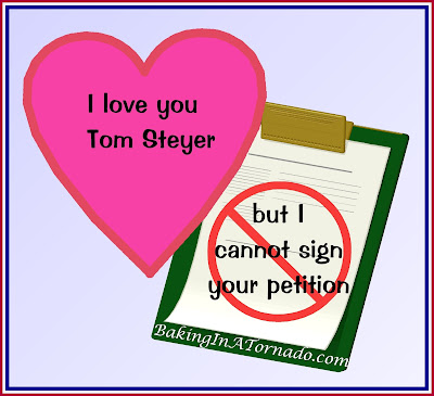 I Love You Tom Steyer but I Cannot Sign Your Impeachment Petition, a discussion of what is and what comes next. | www.BakingInATornado.com | #politics #MyGraphics