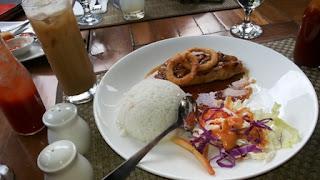 salmon teriyaki - atmosphere resort cafe bandung