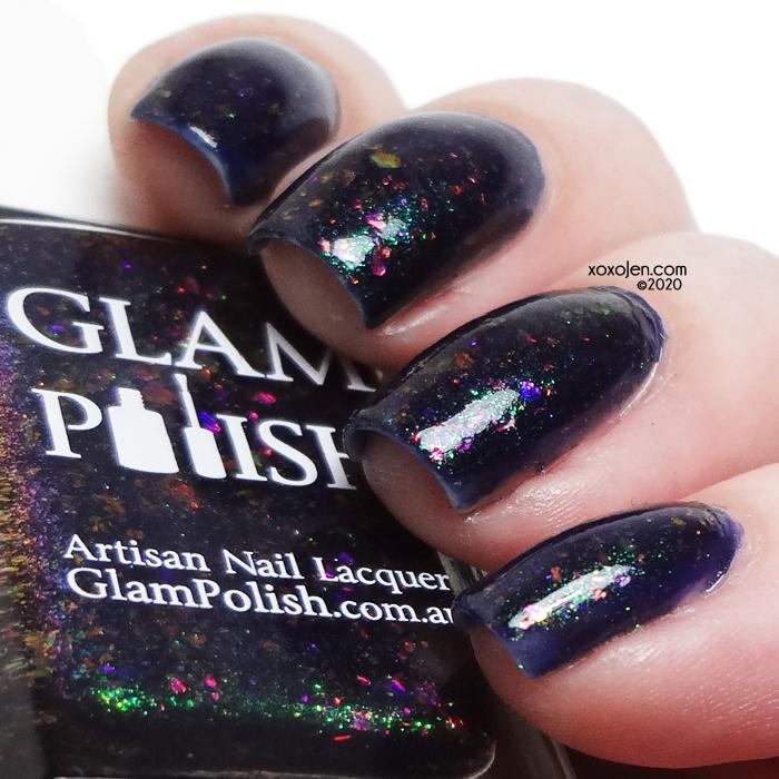 xoxoJen's swatch of Glam Polish I Hope Evil Takes Mastercard