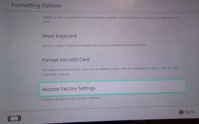 Nintendo Switch, Factory Reset