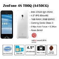 Cara update dan download firmware terbaru asus zenfone 4s (T00Q/A450CG)