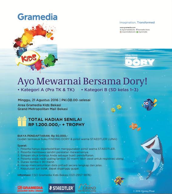 Lomba Mewarnai Bersama Dory – Gramedia Kids Bekasi