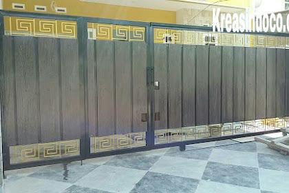 Pintu Pagar Besi Kombinasi GRC di Jamin Lebih Awet Dari Kayu