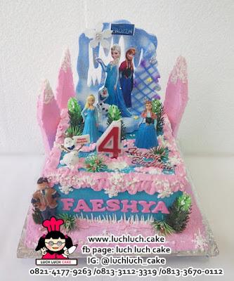 Kue Tart Frozen Untuk Anak Cewek