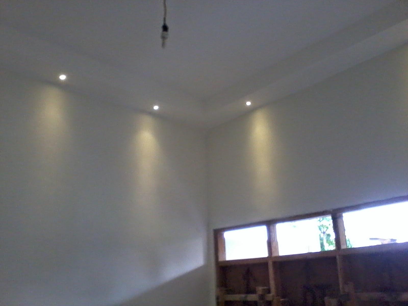 Untuk Lampu Ruangan Kita Led Yg Dekat Dinding Pakai Spot 1w Warm White Total Di Ruang Tamu 12 Buah Rencana