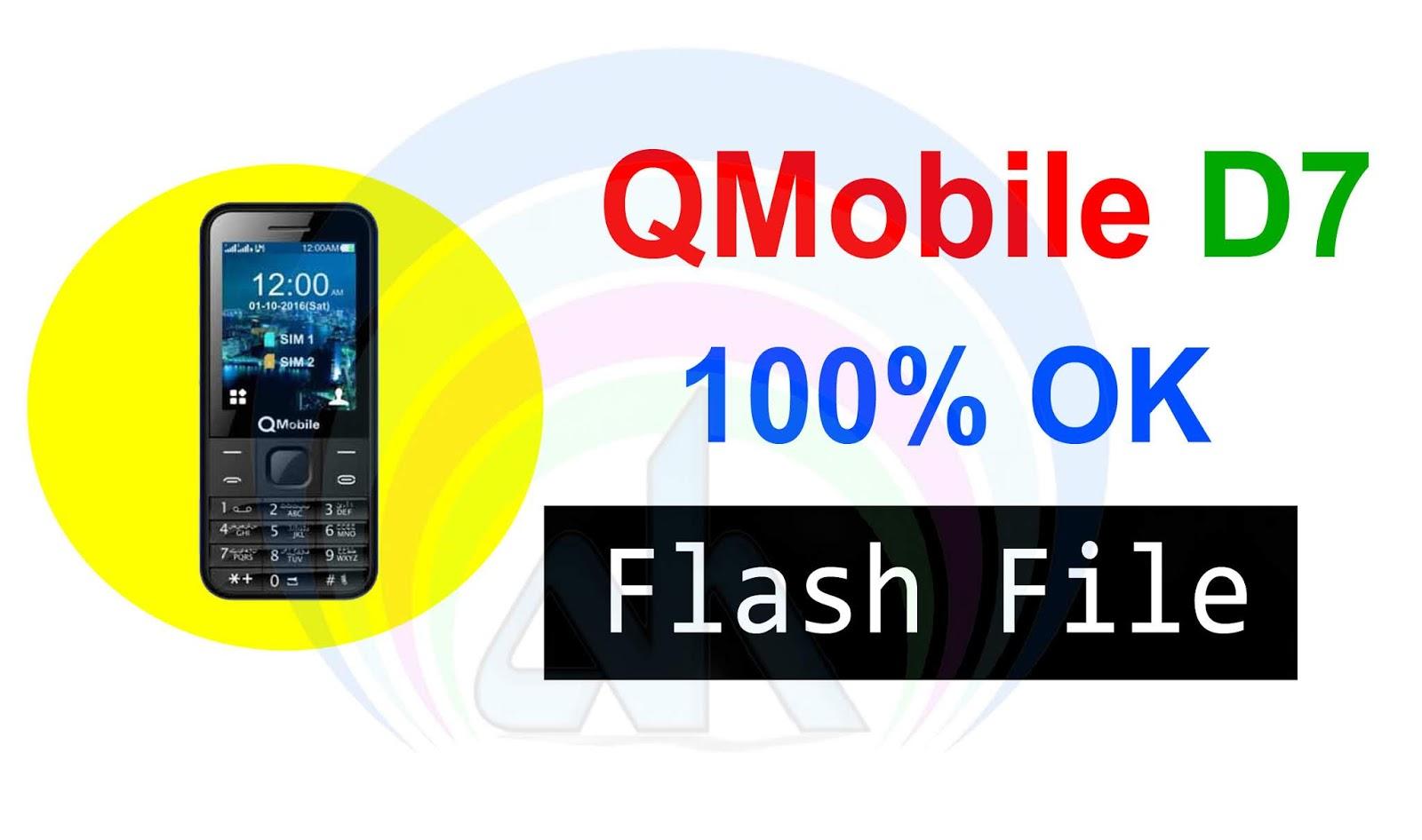 QMobile D7 MT6261 Flash File 100% Ok Working - AH Mobile