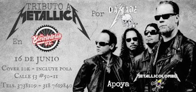 TRIBUTO A METALLICA POR DAMAGE INC. EN LA BICLETERIA