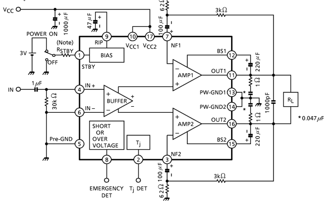 Audio Amplifiers 45W BRIDGE AMPLIFIER 500 pieces