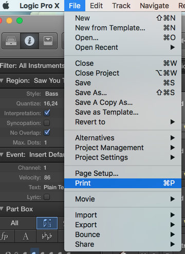 Composition And Recording Tips Logic Pro X Export Music Score As Pdf
