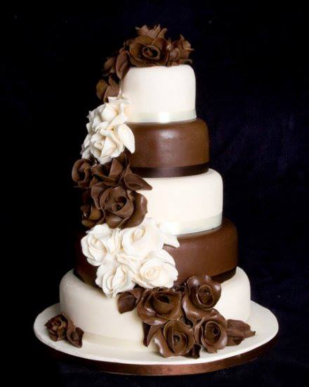 4 tier chocolate wedding cake recipe mi mundo espa 241 ol por condor pastel de boda con 10372