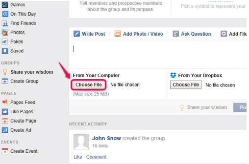 Upload A Pdf To Facebook