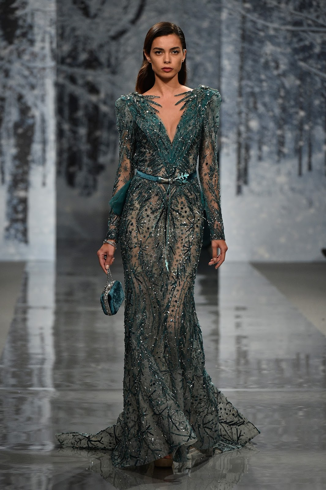 "ZIAD NAKAD - Paris Fashion Week Fall-Winter 2017-2018 ""THE SNOW CRYSTAL FOREST"" during Paris Haute Couture Fashion Week"