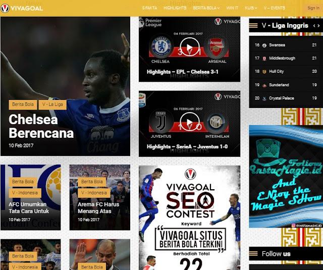 vivagoal situs sepakbola
