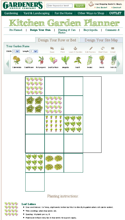 Domestinista: Vegetable Garden Planner review on Patio Planner id=11889