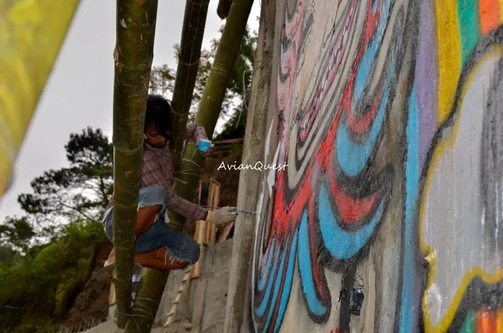 Tamawan Village Making of a Graffitti Mural Baguio City Philippines 21