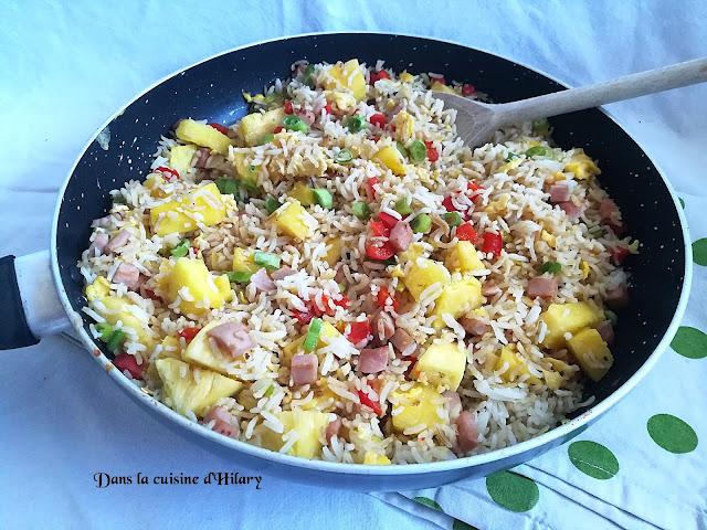 Riz frit à l'Hawaienne pour vos vos envies d'ailleurs - Dans la cuisine d'Hilary
