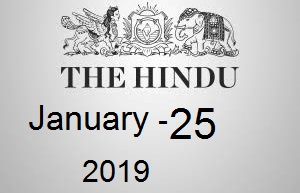 The Hindu Newspaper Today 25 January 2019 Download PDF