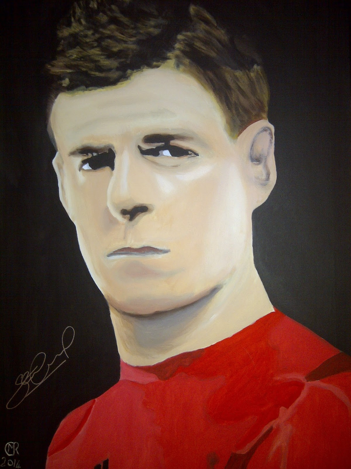 This Steven Gerrard portrait made by blind veteran