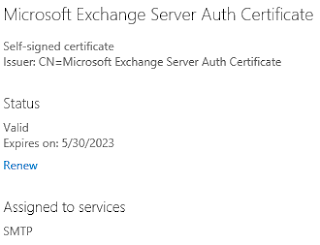 Microsoft Exchange Server Auth Certificate