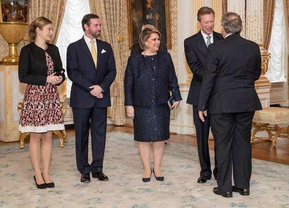 Grand Duke Henri, Grand Duchess Maria Teresa, Hereditary Grand Duke Guillaume and Hereditary Grand Duchess Stéphanie