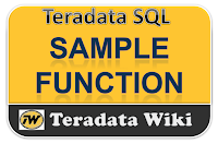 TeradataWiki-teradata SAMPLE Function