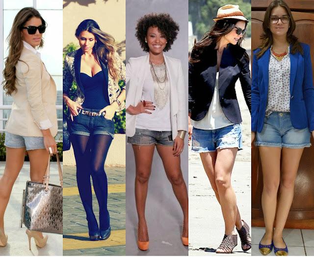 Resultado de imagem para moda chic com shorts e sapatilha