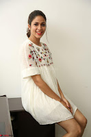 Lavanya Tripathi in Summer Style Spicy Short White Dress at her Interview  Exclusive 156.JPG