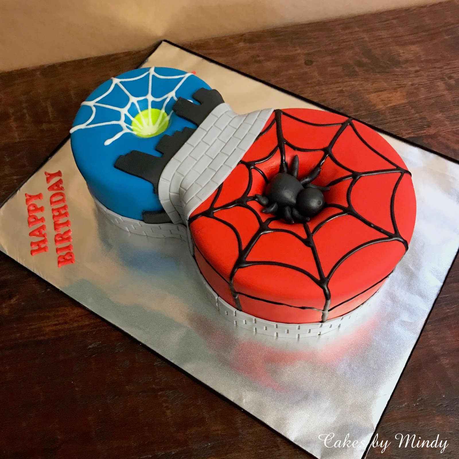 Spiderman 8th Birthday Cake 6 8