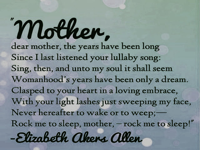 Mothers day inspirational poems 2017