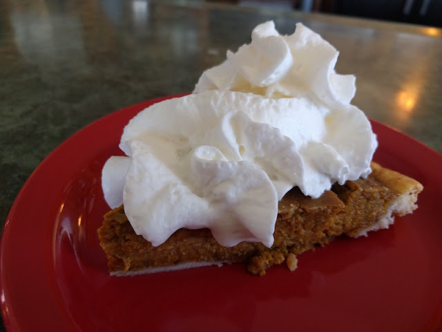 Pumpkin pie at Pie Town Cafe in New Mexico