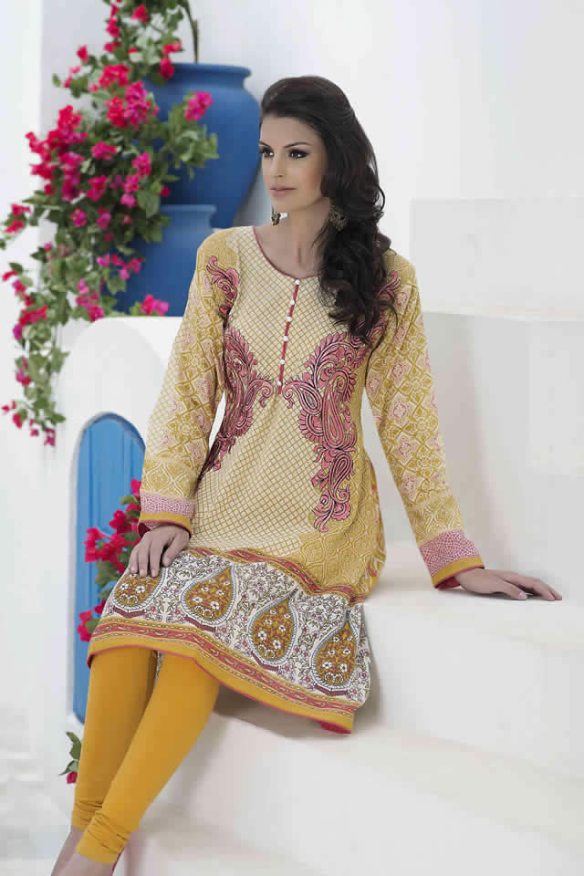 Mashaal Embroiderer kurties Collection 2016