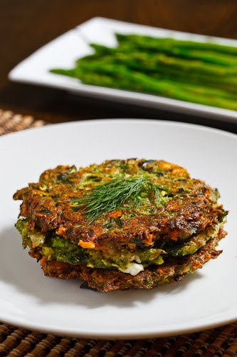 Asparagus and Feta Fritters Recipe
