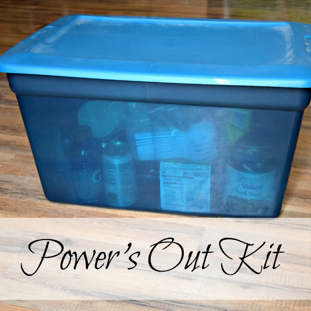 Put together a kit to sustain your family when the electricity goes out.
