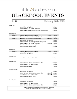 B2B Blackpool Hotelier Free Resource - Blackpool Shows and Events March 1 to March 7 - PDF What's On Guide Listings Print-off #149 Thursday February 28