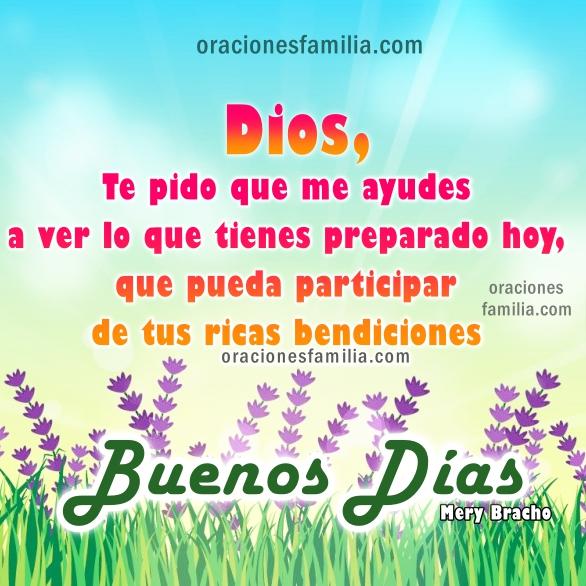 Oración de gracias Dios por este día, oraciones de la mañana con imágenes cristianas con acciones de gracias por Mery Bracho