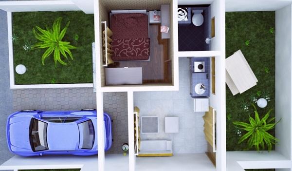 Gambar Denah Rumah Minimalis Terbaru Type  Gambar Denah Rumah Minimalis Terbaru Type 21