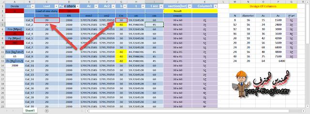 Excel Sheet - Columns