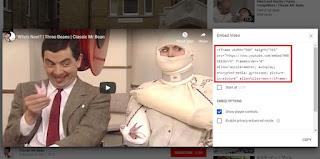Cara Embed Video Youtube ke Blogger dan Facebook