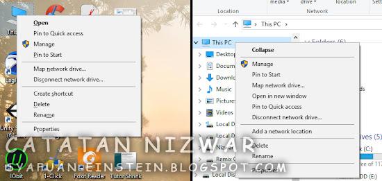 Buka Manage dari My Computer - Catatan Nizwar ID