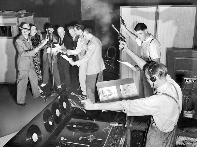 Early CBS radio program. Gunshot sound effects live and in studio. Jingles and other stories about The American Dream. marchmatron.com