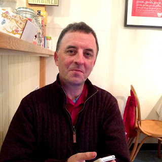 Mark Reid in the Tearooms at Duckett's Grove