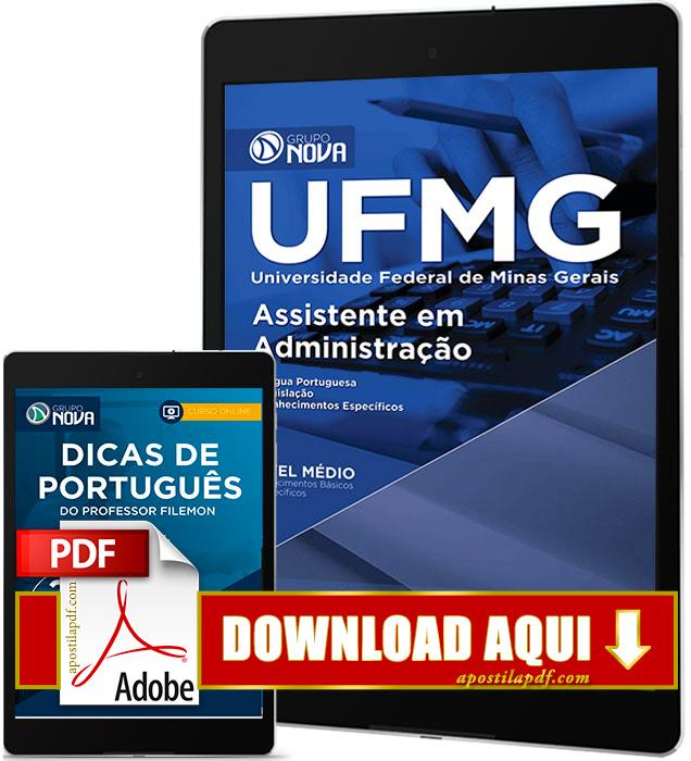 Apostila UFMG 2016 PDF Download Assistente em Administração
