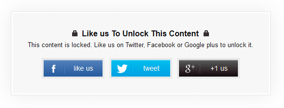 How To Create a Social Content Locker In Blogger