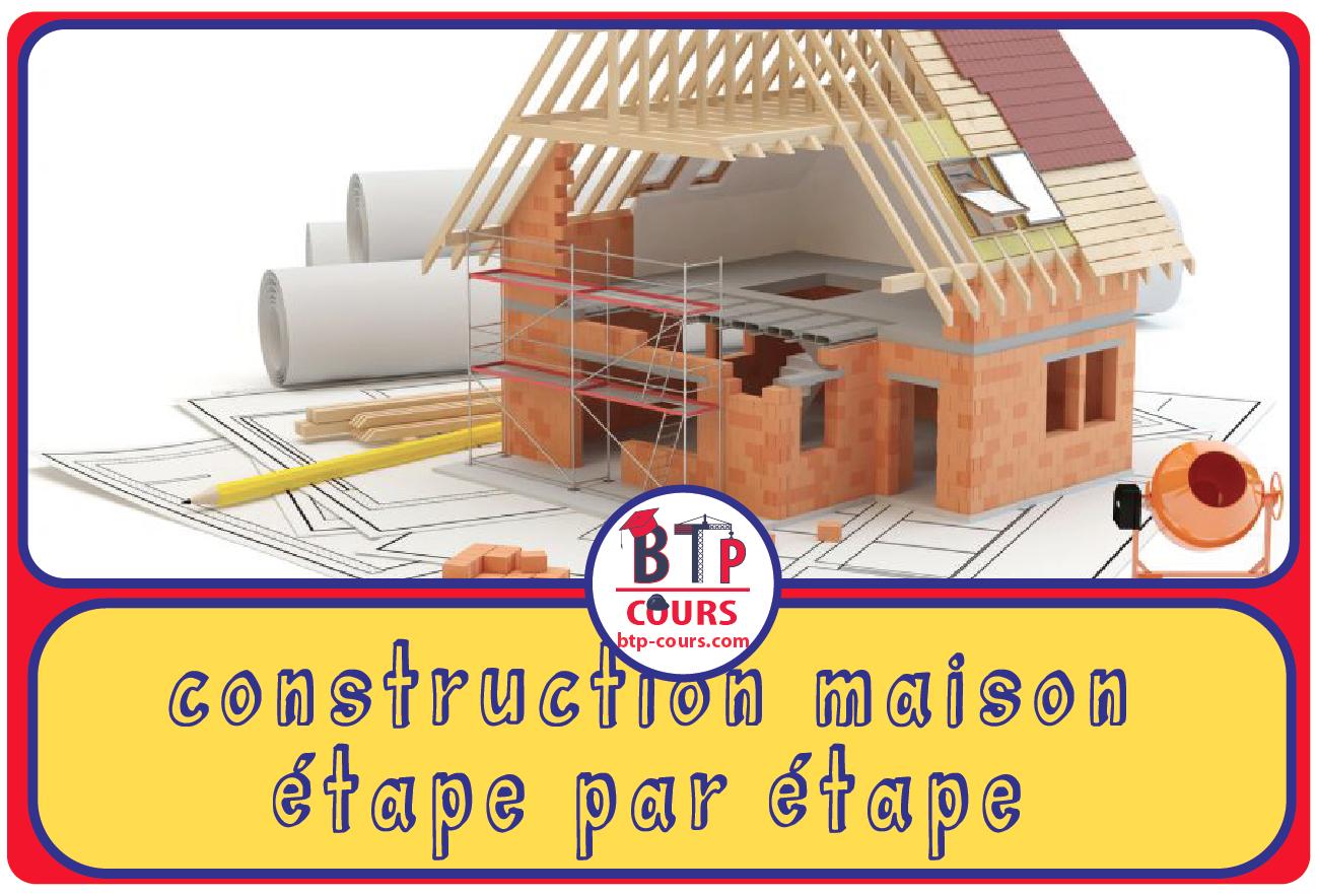 Etapes Construction Maison Pdf Doc Genie Civil